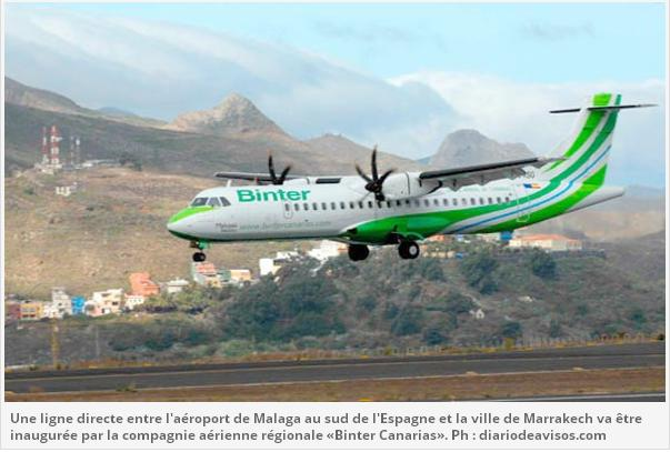 Transport aérien «Binter Canarias» lie Malaga à Marrakech -