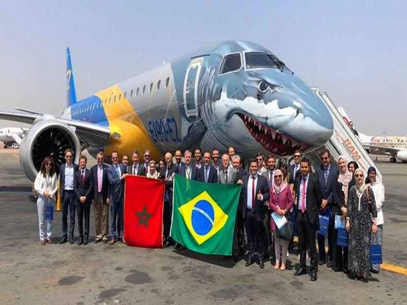 Aviation: L'Embraer 190-E2 en visite au Maroc