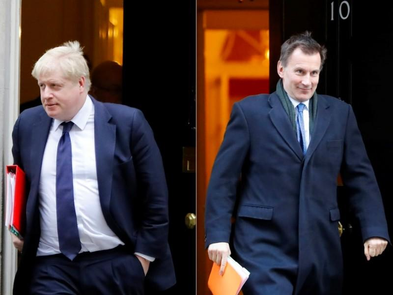 Boris Johnson, Jeremy Hunt, deux conservateurs prêts à un Brexit sans accord