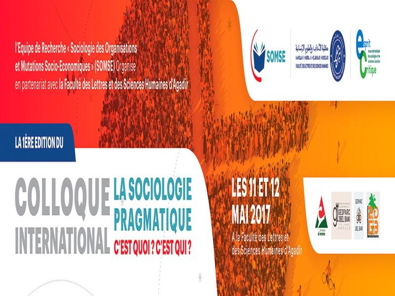 Colloque International « La sociologie pragmatique. C'est quoi ? C'est qui ? »